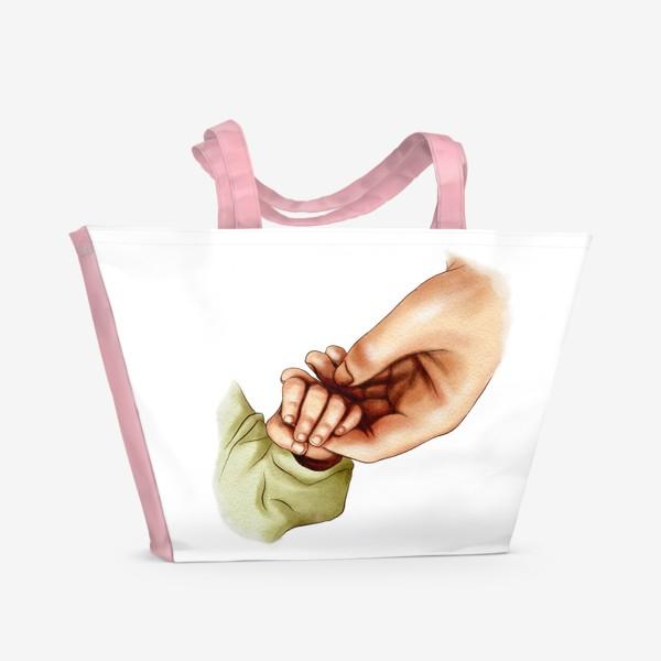Пляжная сумка «Рука матери и ребенка»