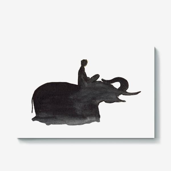 Холст «На слоне. Верхом на мечте...»