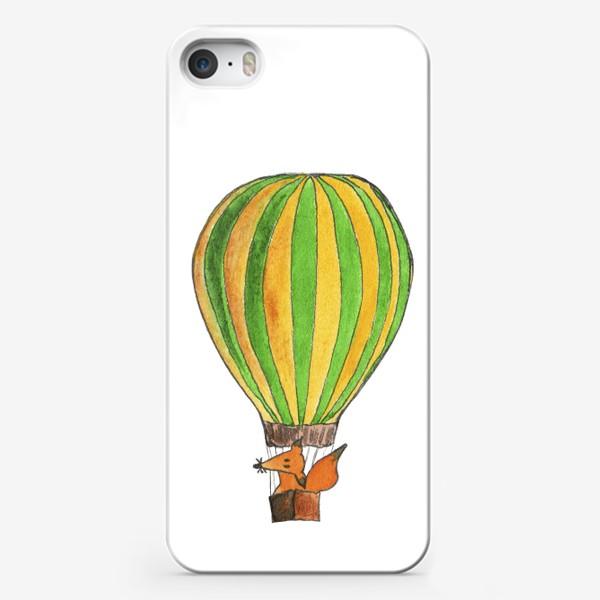 Чехол iPhone «Лис на воздушном шаре. Только вверх!»