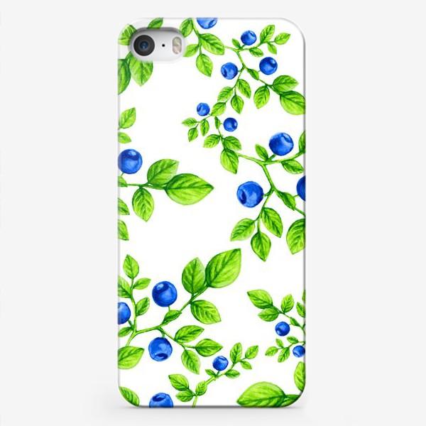 Чехол iPhone «Черника.Паттерн. /Blueberry. Pattern.»