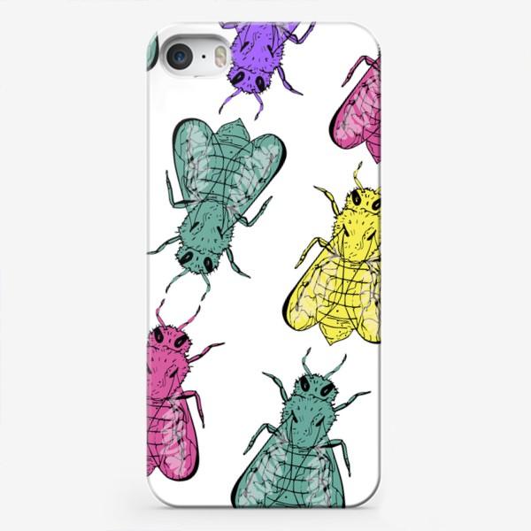 Чехол iPhone «Паттерн из пчел в стиле поп-арт»