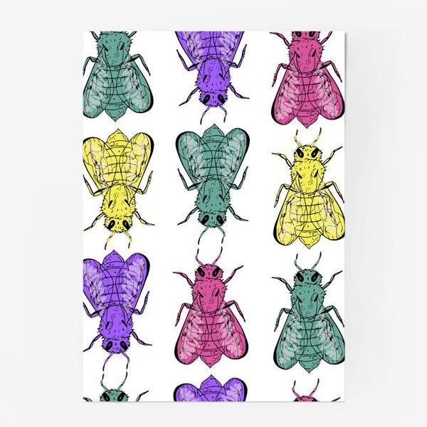 Постер «Паттерн из пчел в стиле поп-арт»