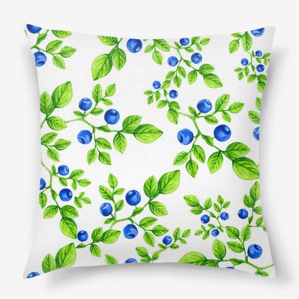 Подушка «Черника.Паттерн. /Blueberry. Pattern.»