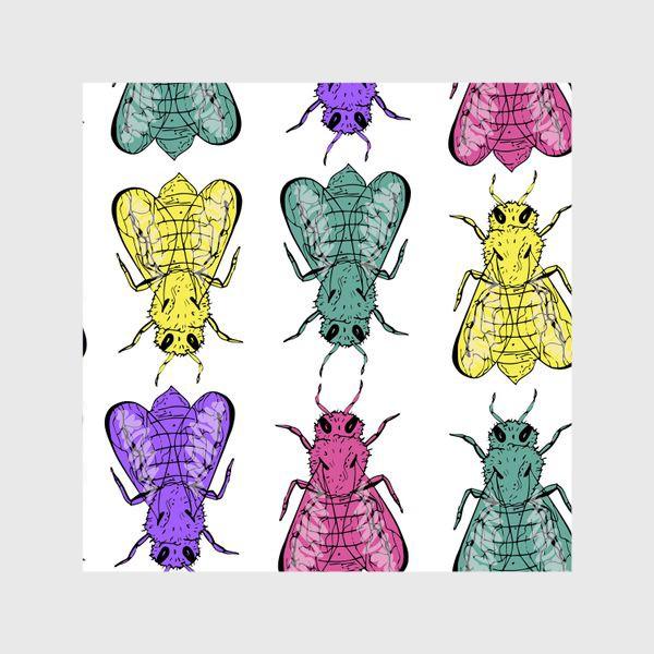 Шторы «Паттерн из пчел в стиле поп-арт»