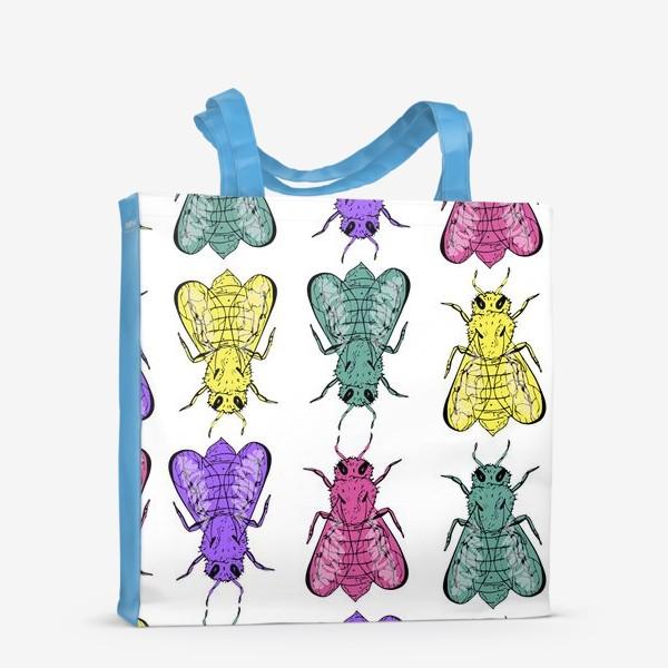Сумка-шоппер «Паттерн из пчел в стиле поп-арт»