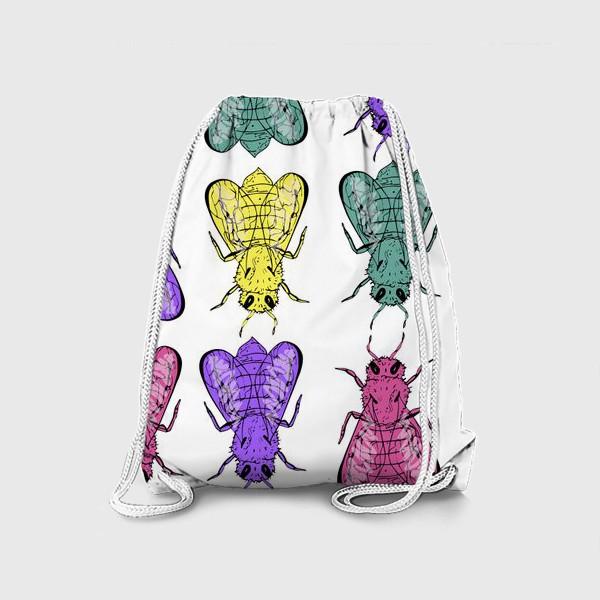 Рюкзак «Паттерн из пчел в стиле поп-арт»
