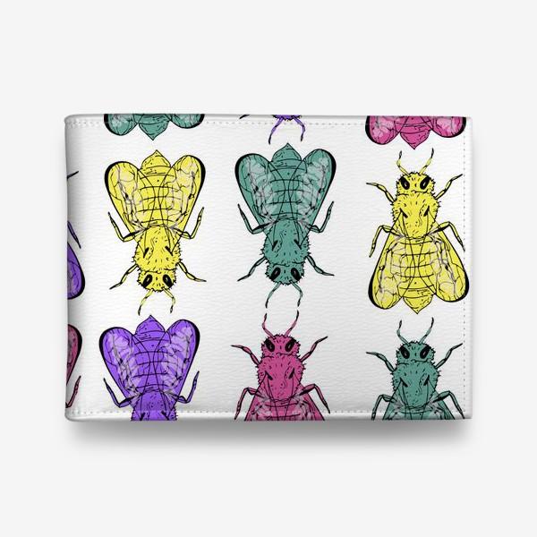 Кошелек «Паттерн из пчел в стиле поп-арт»