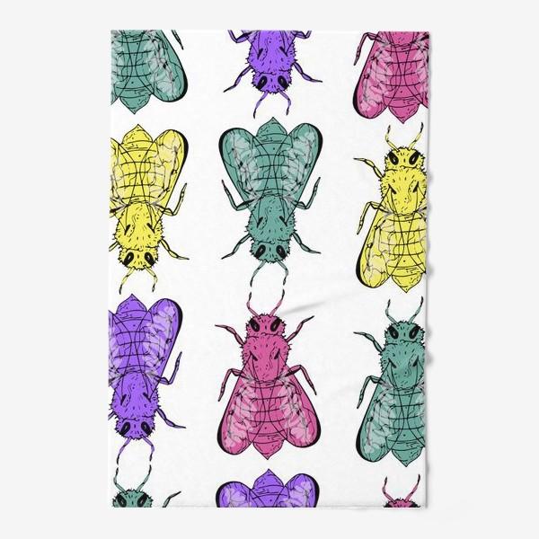 Полотенце «Паттерн из пчел в стиле поп-арт»