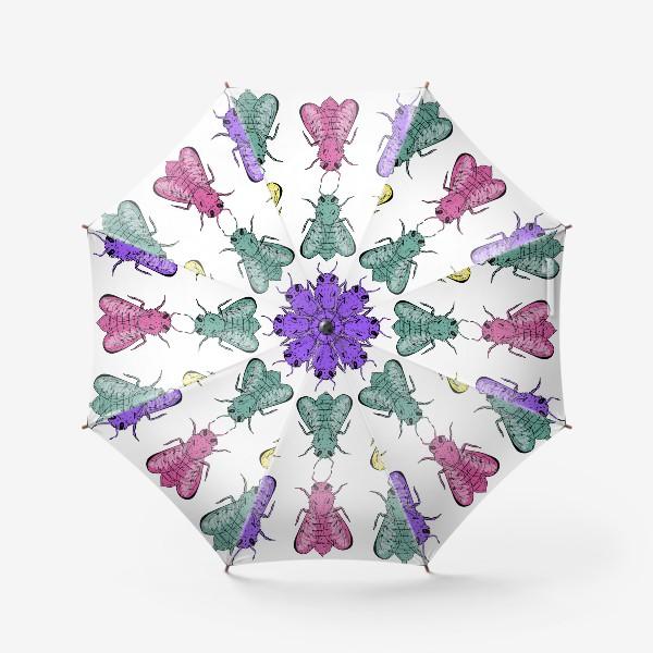 Зонт «Паттерн из пчел в стиле поп-арт»