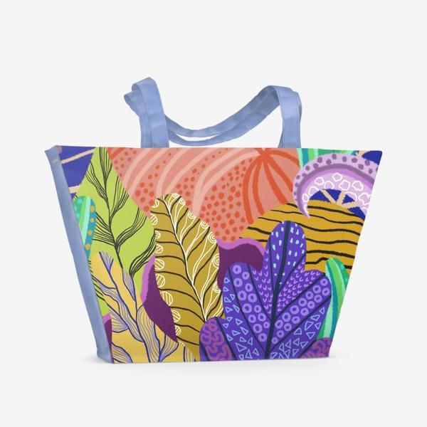 Пляжная сумка «Абстрактные растения»