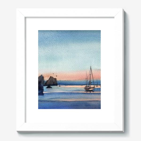 Картина «Яхты на закате Море»