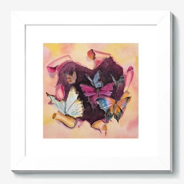 Картина «Бабочки в сердце»