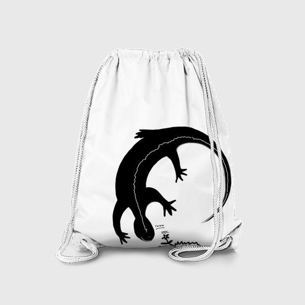 Рюкзак «Ящерка и цветочек. Радуются друг другу »