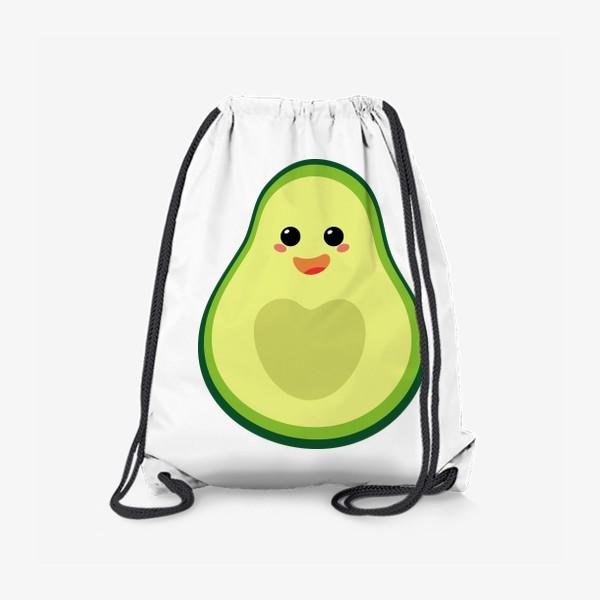 Рюкзак «милый авокадо, смайлик, эмодзи, сердечко и радость»