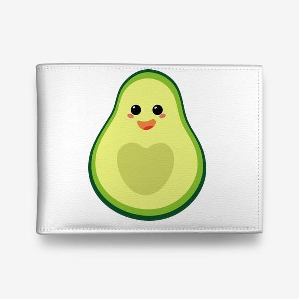 Кошелек «милый авокадо, смайлик, эмодзи, сердечко и радость»