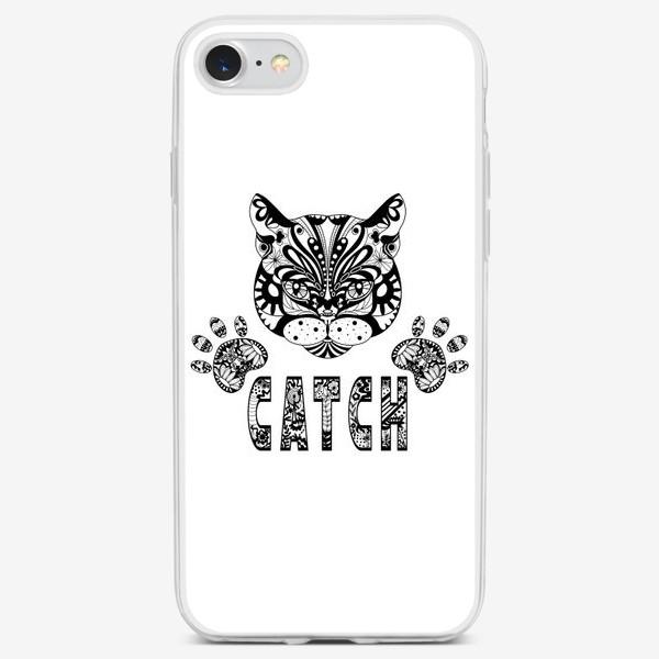 Чехол iPhone «Кот. Люблю кошек. Коты. Морда кота»