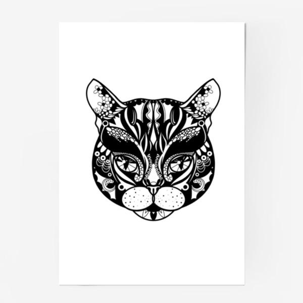 Постер «Морда кота. Кот. Люблю котов»