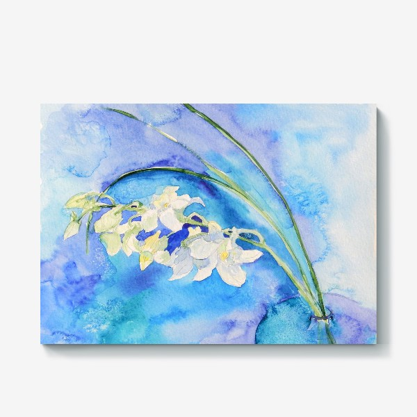 Холст «Белая орхидея»