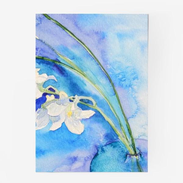 Постер «Белая орхидея»