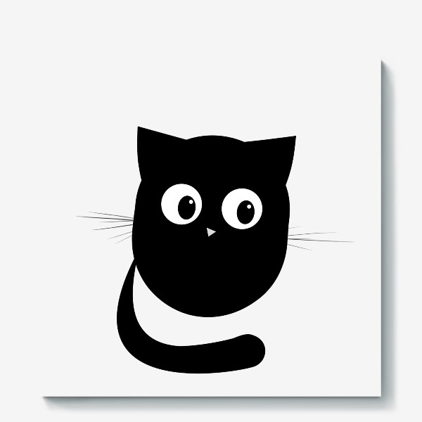 Холст «Нафаня - маленький черный котик»