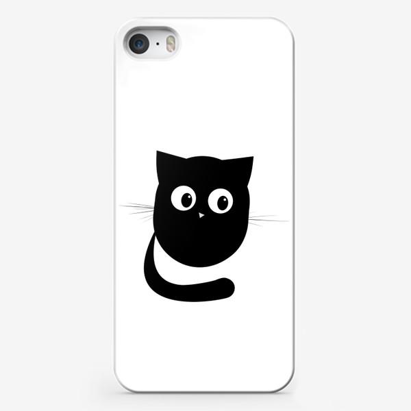 Чехол iPhone «Нафаня - маленький черный котик»