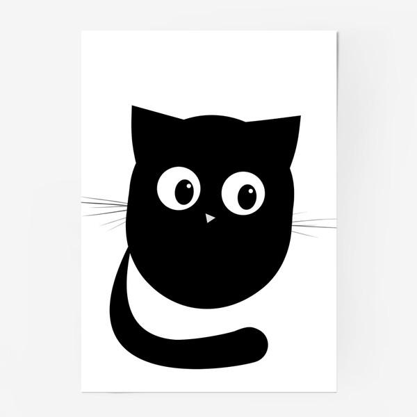 Постер «Нафаня - маленький черный котик»