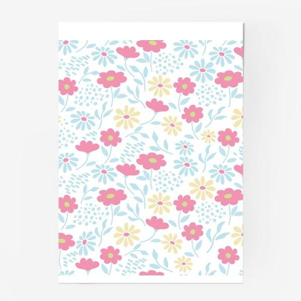 Постер «Нежный узор с цветочками»
