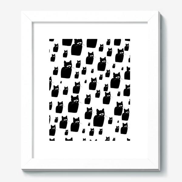 Картина «Принт из грустных черных котов Киану»
