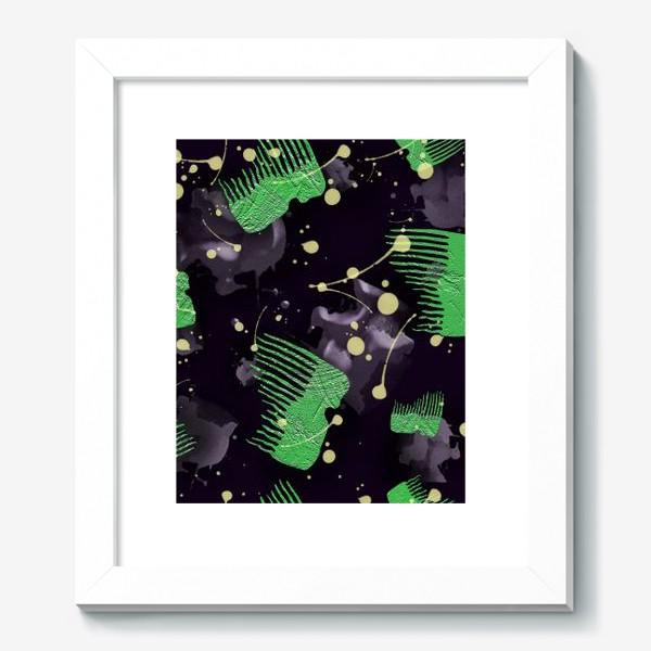 Картина «Абстрактный принт зубцы и пятна»