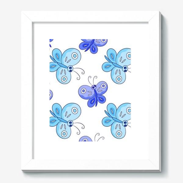 Картина «Голубые и фиолетовые бабочки»