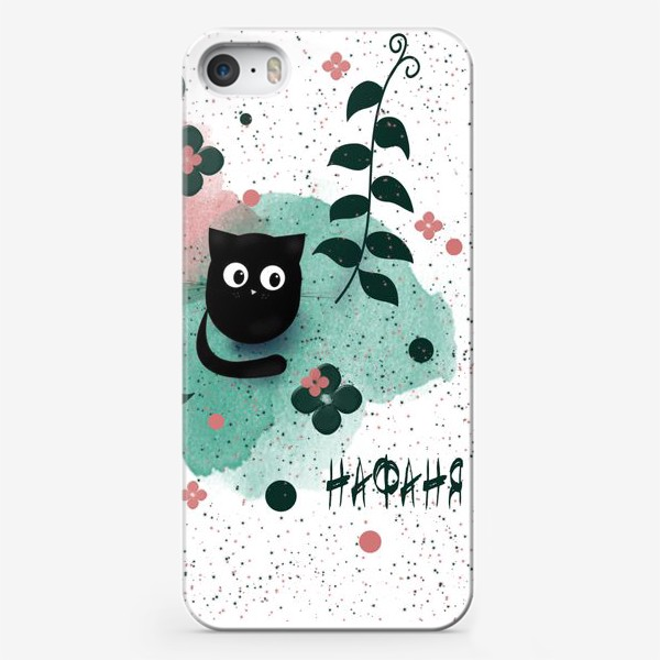 Чехол iPhone «Черный котик Нафаня»