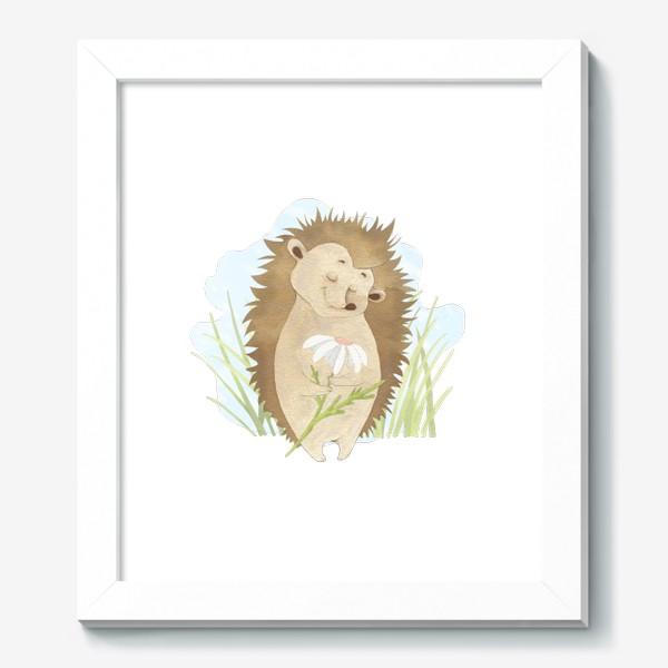 Картина «Ёжик с ромашкой»