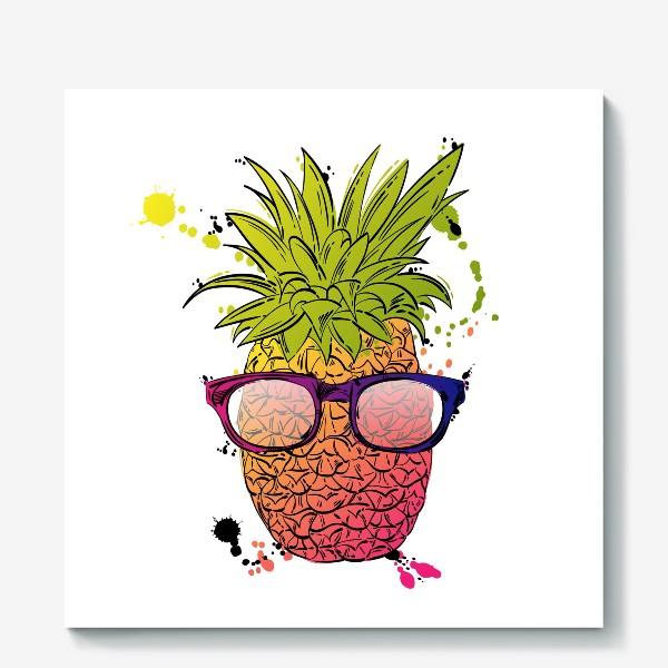 Холст «Иллюстрация летнего ананаса»