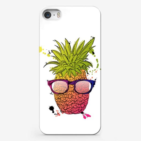 Чехол iPhone «Иллюстрация летнего ананаса»