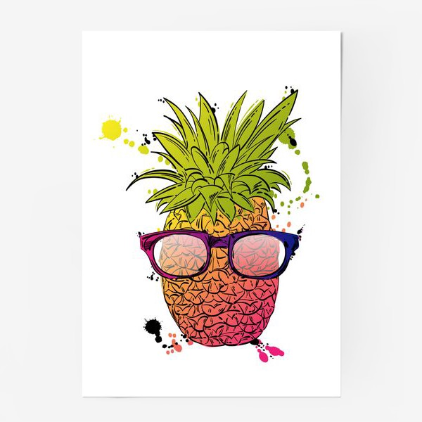 Постер «Иллюстрация летнего ананаса»