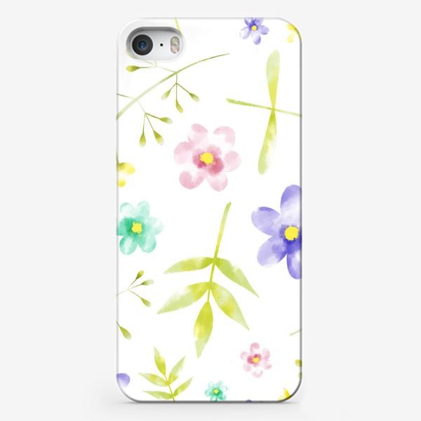 Чехол iPhone «Нежный акварельные цветочки »
