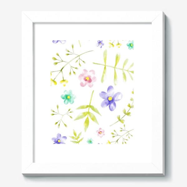 Картина «Нежный акварельные цветочки »