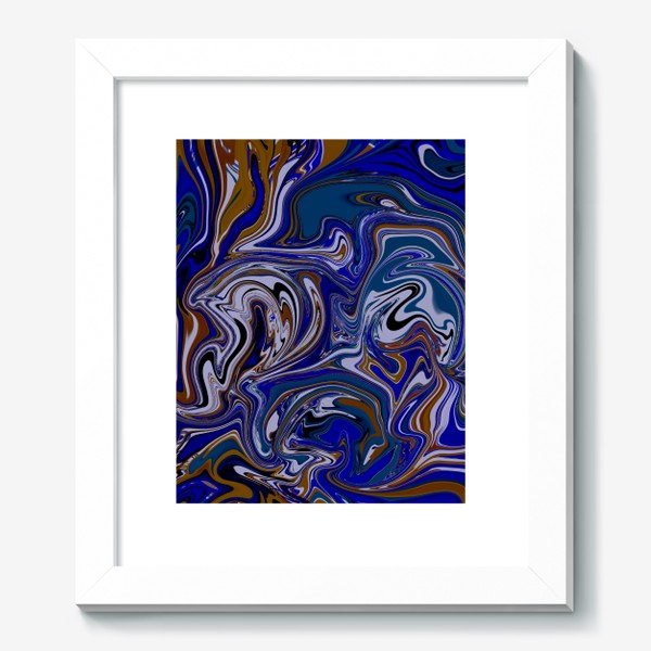Картина «Мраморный узор/ Узор эпоксидной смолы»