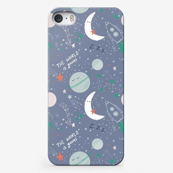 Чехол iPhone «Детский космический паттерн»