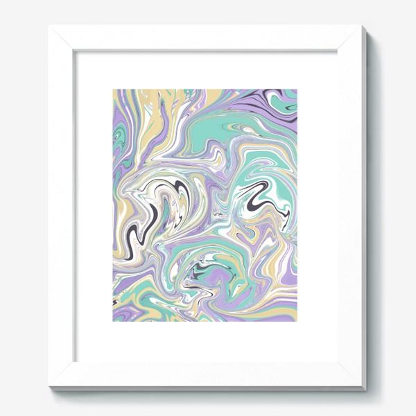 Картина «Мраморный узор/ Узор эпоксидной смолы »