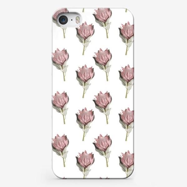 Чехол iPhone «Паттерн с цветами протеи»