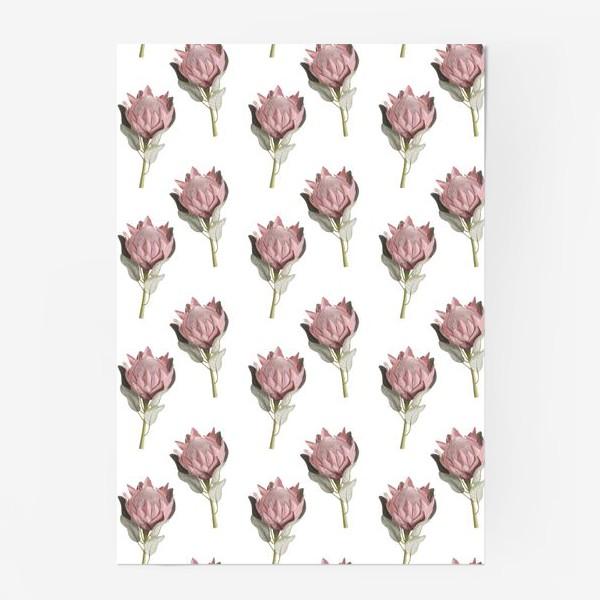 Постер «Паттерн с цветами протеи»