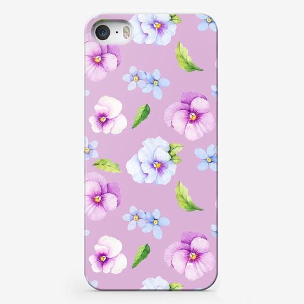 Чехол iPhone «Виола и незабудки»