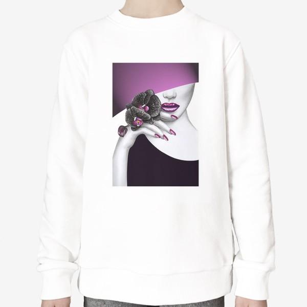 Свитшот «Чёрная орхидея»