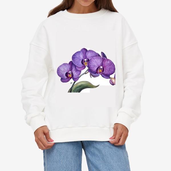 Свитшот «Ветка орхидеи»