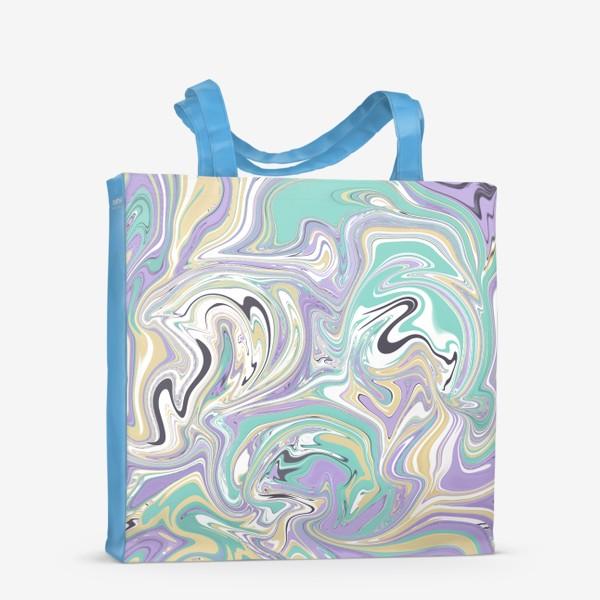 Сумка-шоппер «Мраморный узор/ Узор эпоксидной смолы »