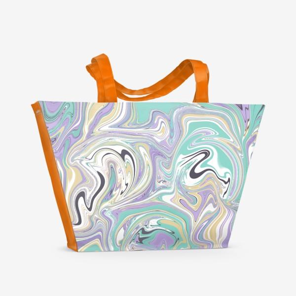 Пляжная сумка «Мраморный узор/ Узор эпоксидной смолы »