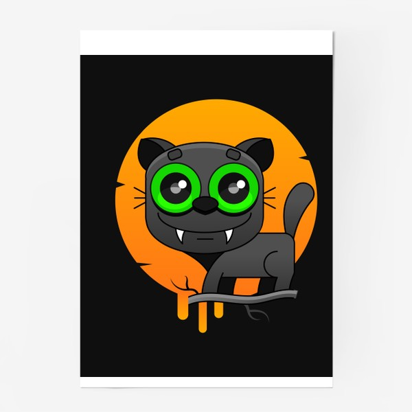 Постер «кот»