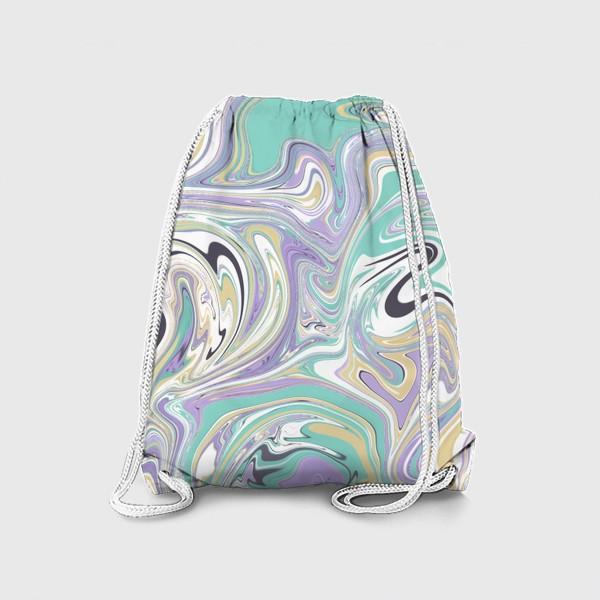 Рюкзак «Мраморный узор/ Узор эпоксидной смолы »