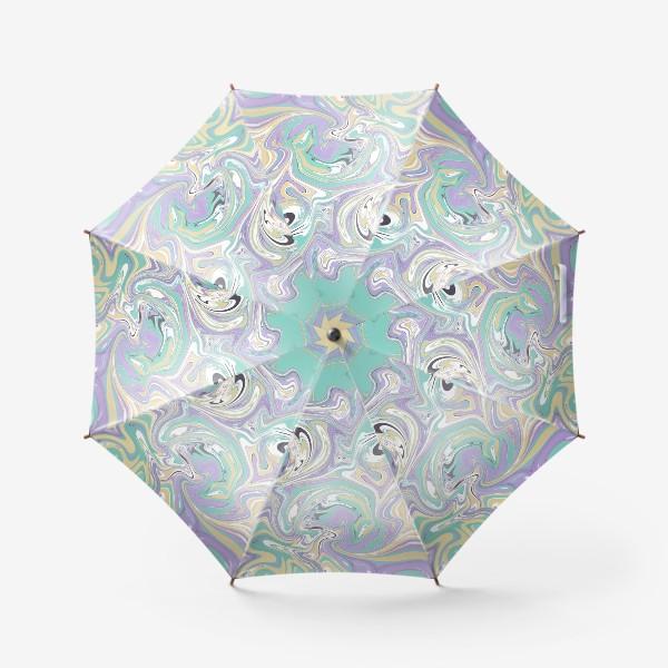 Зонт «Мраморный узор/ Узор эпоксидной смолы »